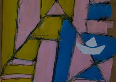 """Construcción . 30""""X20"""".  Acrylic on Paper."""