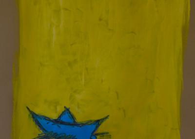 """Siempre Azulez. 30""""X20"""".  Acrylic on Paper."""