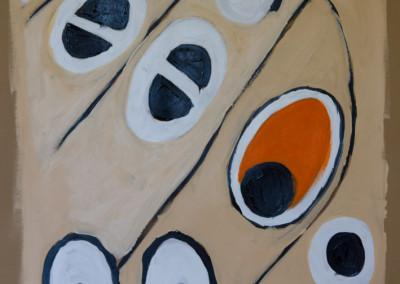 """Orange. 30""""X20"""".  Acrylic on Paper."""