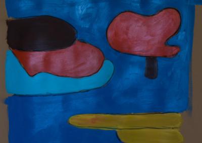 "Lake. 30""X20"".  Acrylic on Paper."