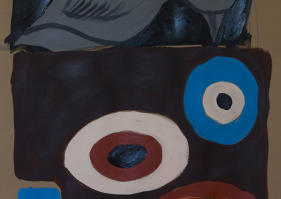 "Gray Bird. 30""X20"".  Acrylic on Paper."
