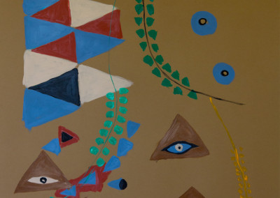 "Eyes. 30""X20"".  Acrylic on Paper."