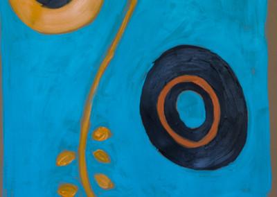"Blue. 30""X20"".  Acrylic on Paper."
